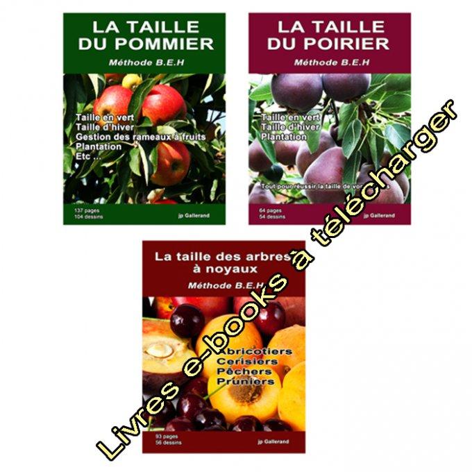 Pack 9 livres e books sur la taille des arbres fruitiers - Taille des arbres fruitiers a noyaux ...